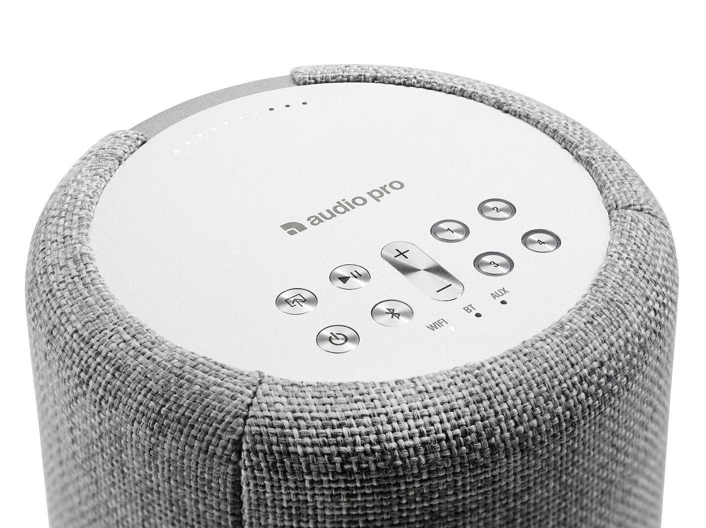 wireless-multiroom-speaker-A10-lightgray-detail-works-with-alexa-AudioPro