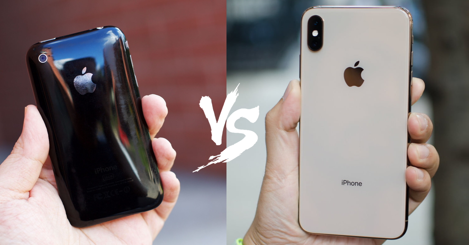 iPhone 3G vs iPhone XS Max