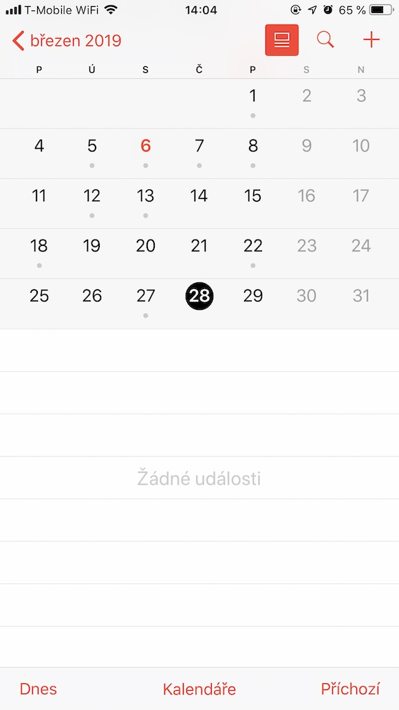 iOS Kalendar presny cas 1