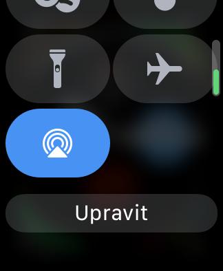Apple Watch prizpusobeni Ovladaciho centera