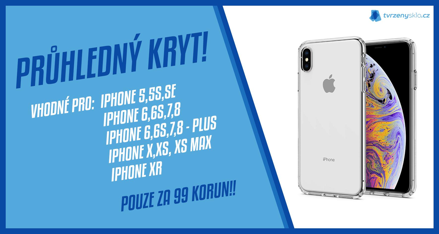 4e3808a61 Gumový průhledný kryt na iPhone za jedinečnou cenu 99 korun