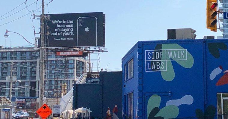 Apple billboard soukromi