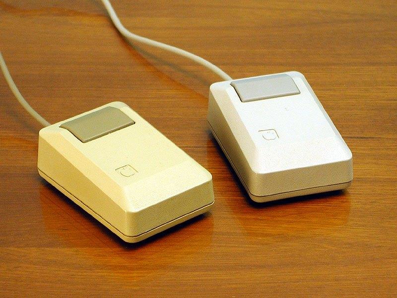 Macintosh Mouse dve mysi Apple bila bezova