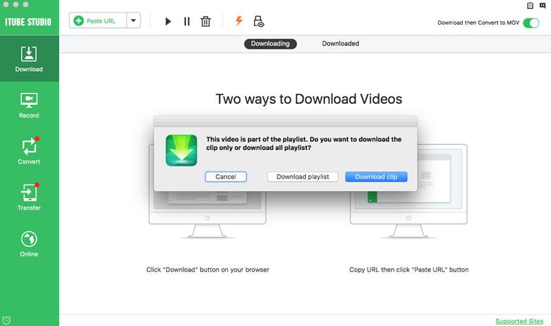 stazeni videii pomoci programu iTube