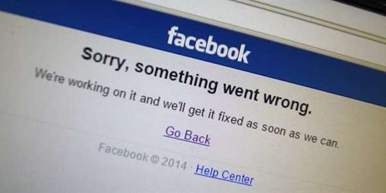 facebook chybova hlaska