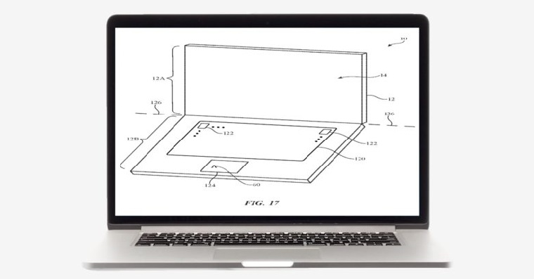Patent MacBooku se dvema displeji