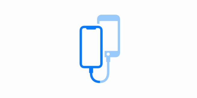 Ikona pro novy typ prenosu dat v iOS 13