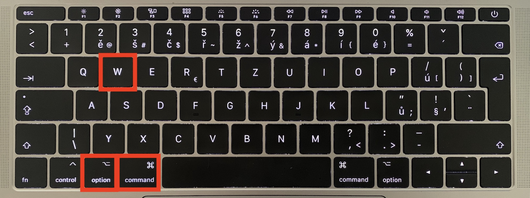 command option w