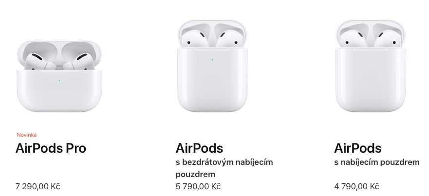 cena airpods pro vs airpods