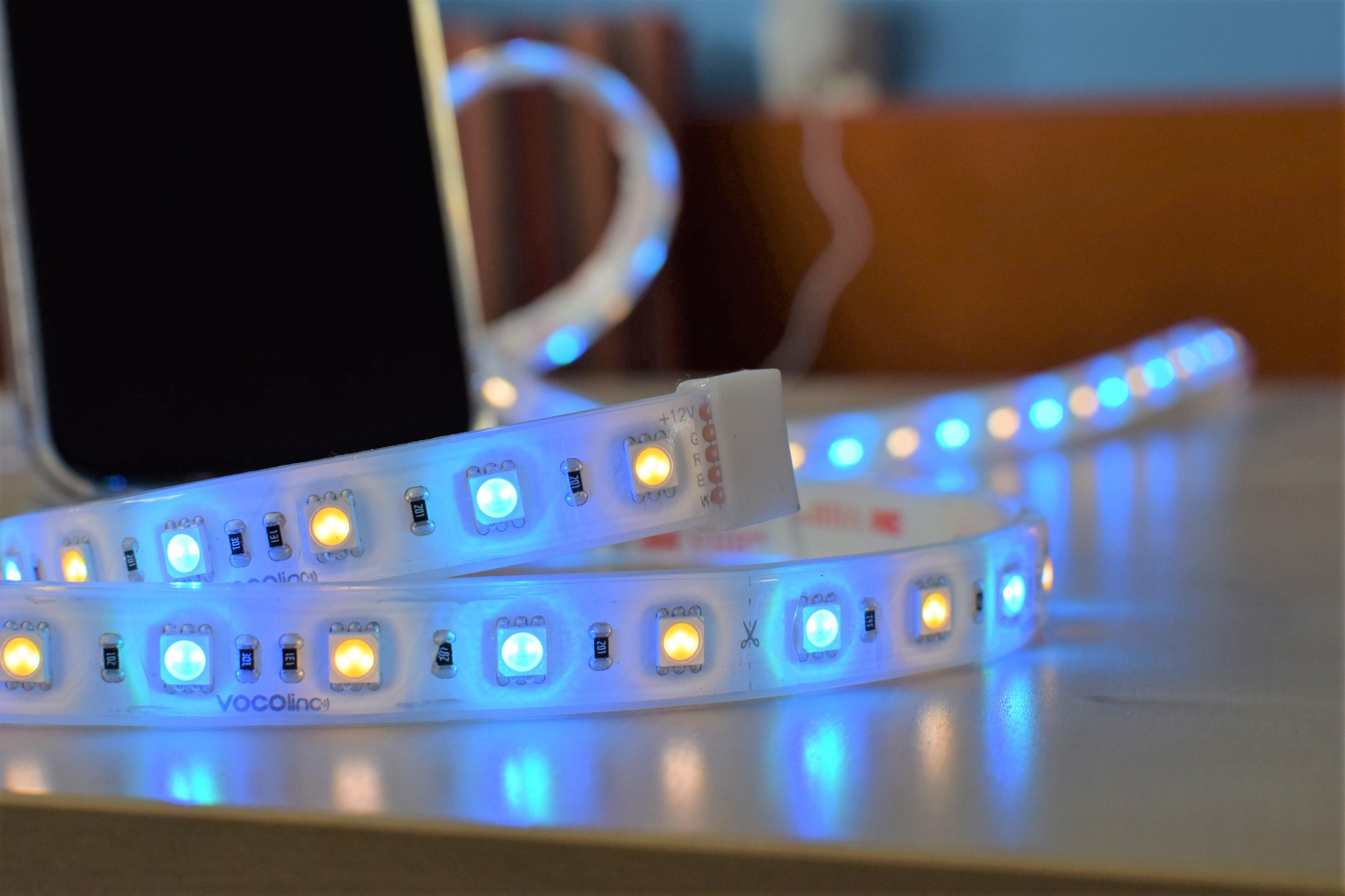 Detail koncovky Vocolinc LED pásku