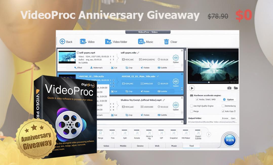 videoproc 2019 anniversary