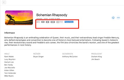 iTunes znacky