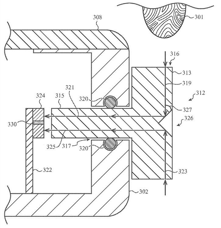 Apple Watch Patent TouchID