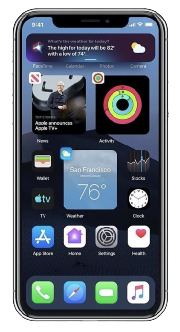 Home Screen iOS 14