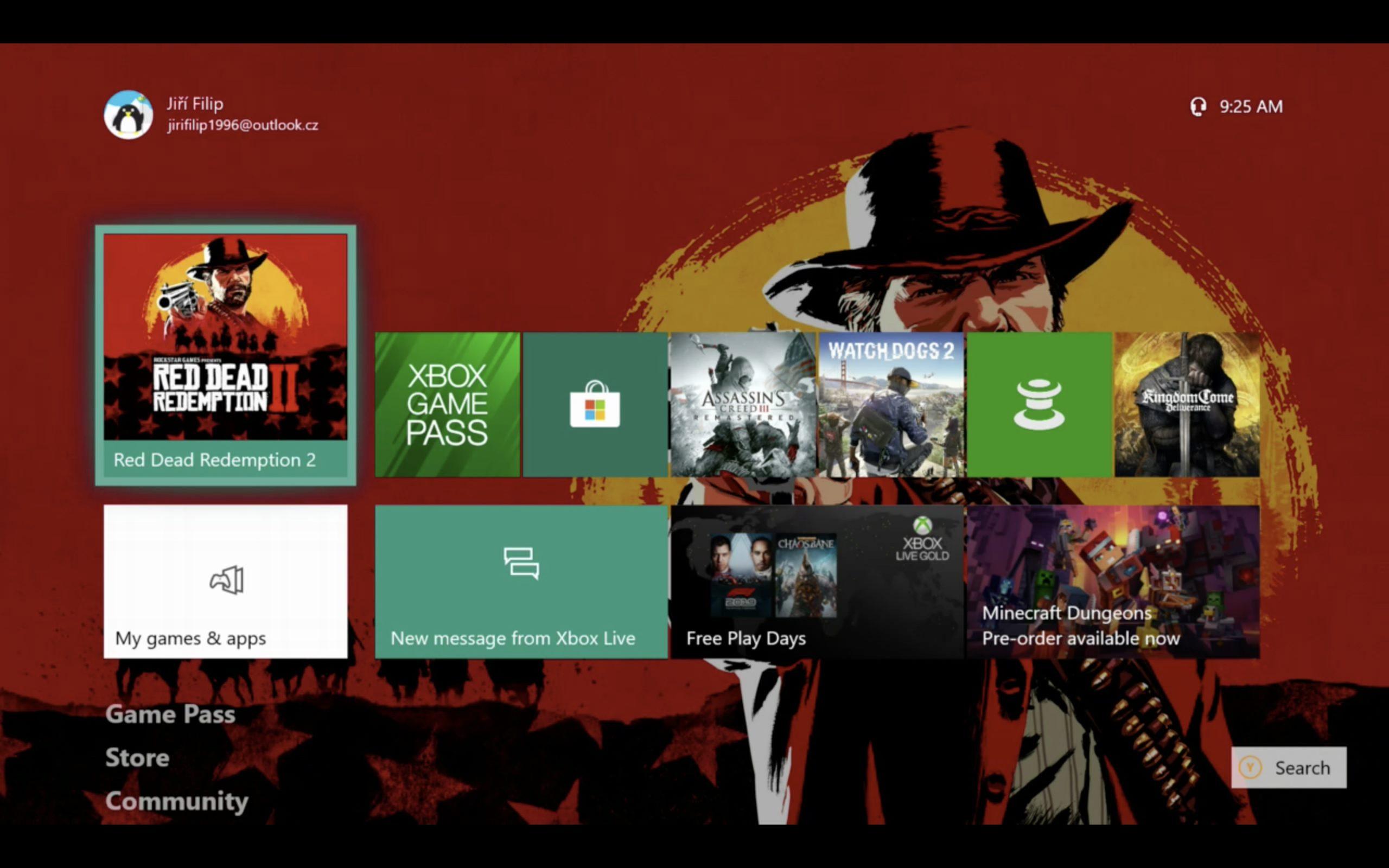 Screenshot aplikace OneCast z Macu
