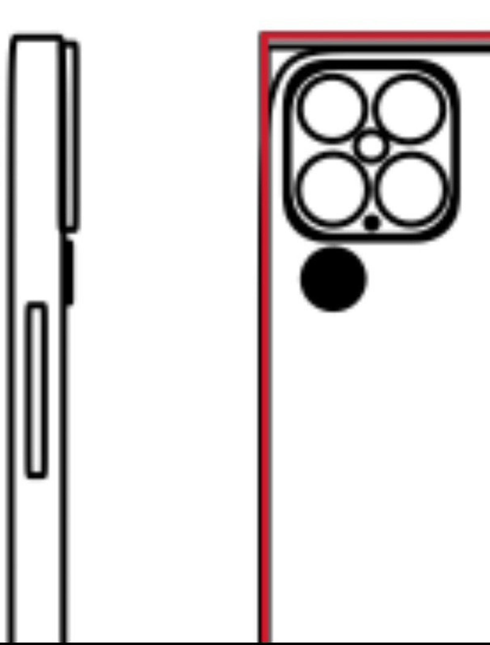 Nákres iPhonu 13