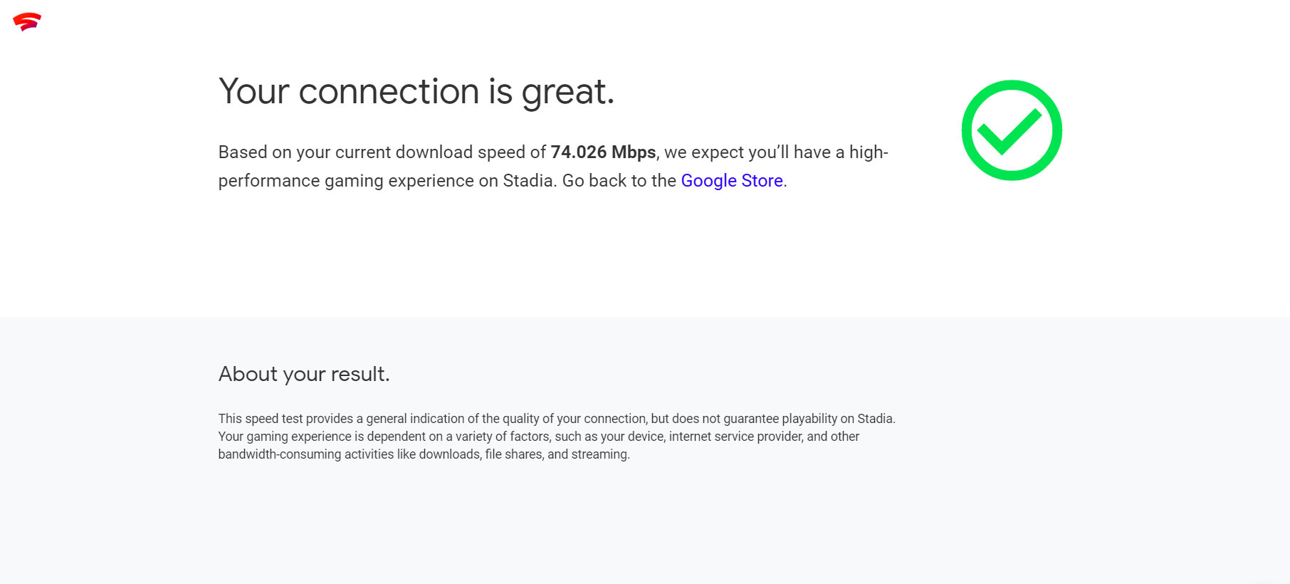 google stadia test internetu