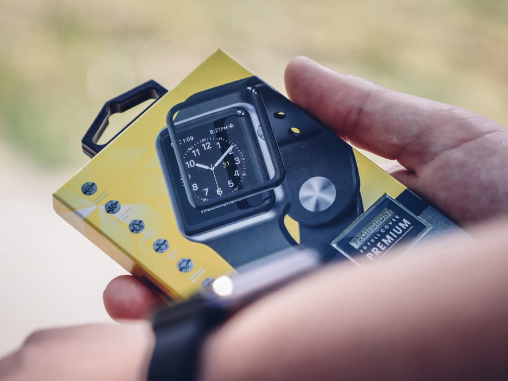 3D ochranná fólie Apple Watch - venku - 4
