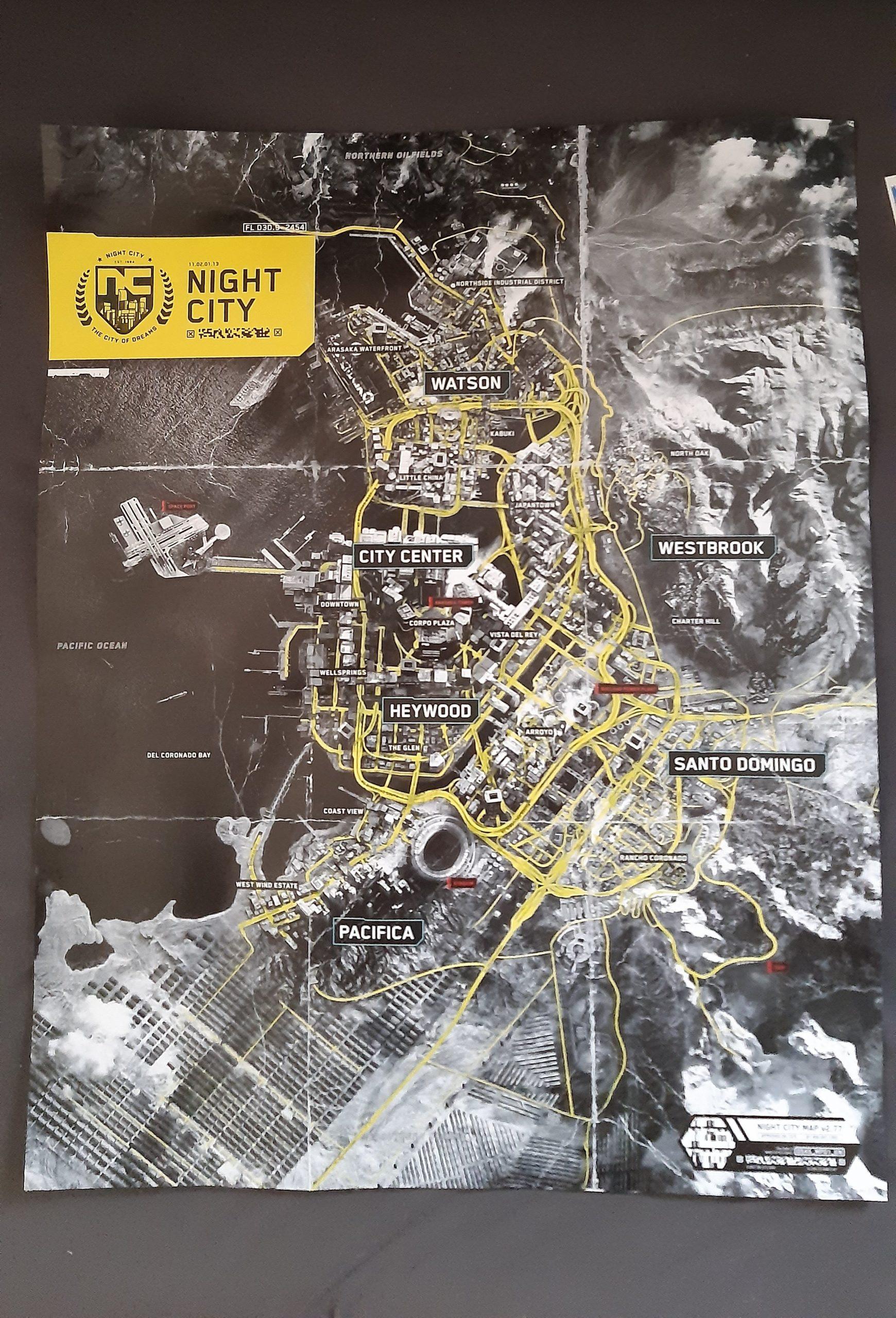 mapa Night City