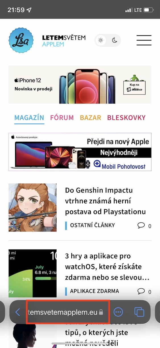 ios 15 website update